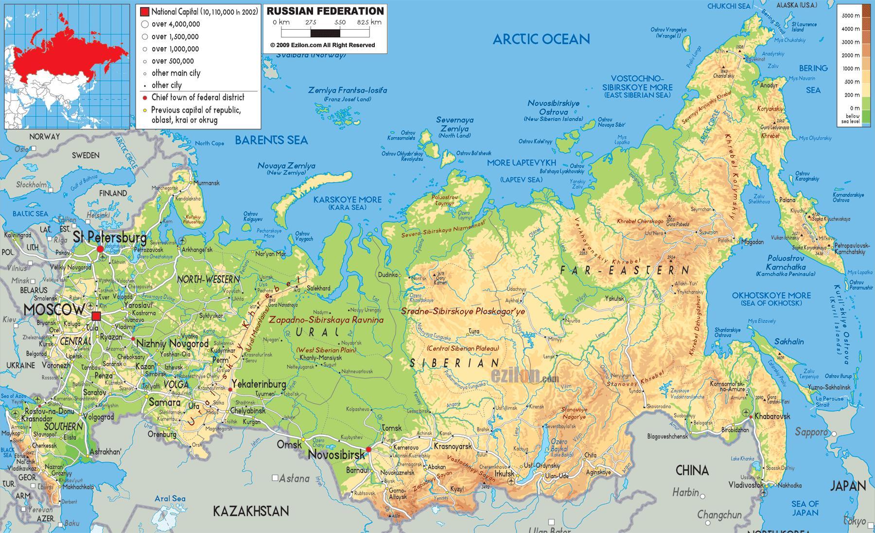 Moskwa Rosja Mapa Rosji Mapa Moskwy Rosja